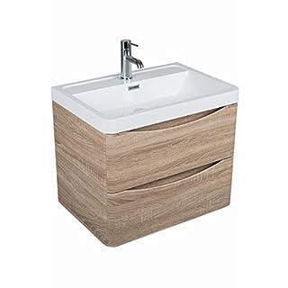 Aquariss Badmöbel Badezimmermöbel Waschbecken Unterschrank Wandhängend 600mm Eiche