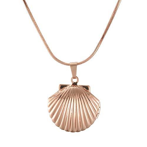 Fengju Furnier-Shell-Halsketten-Legierungs-Gurt 21cm (eingeschlossen) -50cm (eingeschlossen), rosafarbene Halsketten für Frauen-Schmucksachen