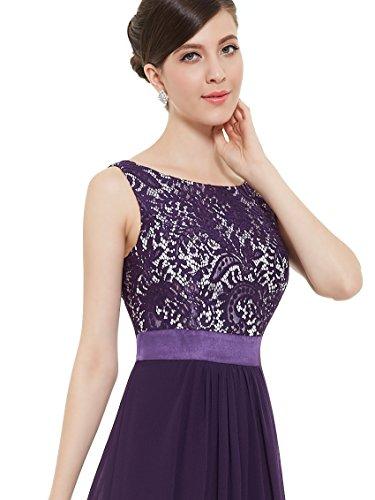 Ever Pretty Robe de soirée élégante en col rond 08217 Violet