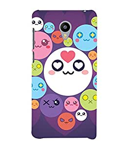 printtech Smiley Circle Memes Back Case Cover for meizu m2