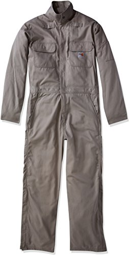 Carhartt Men's Big & Tall Flame Resistant Deluxe Coverall, Gray, 2X-Large Flame Resistant Coverall Deluxe