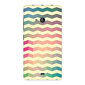 Gorgeous Seamless ZigZag Multicolor Back Case Cover for Lumia 540