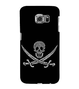 Skull with Swords 3D Hard Polycarbonate Designer Back Case Cover for Samsung Galaxy S6 Edge+ :: Samsung Galaxy S6 Edge Plus :: Samsung Galaxy S6 Edge+ G928G :: Samsung Galaxy S6 Edge+ G928F G928T G928A G928I