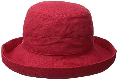 scala-womens-womens-medium-brim-cotton-hat-one-size-red