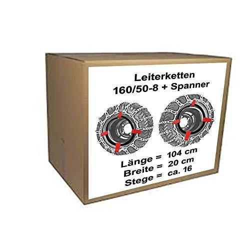 Schneeketten für Rasentraktor Stiga Villa 520 HST + 320 HST mit 160/50-8 Reifen