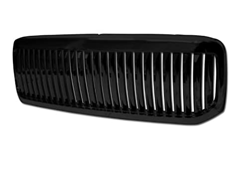 WindGlide GRI-GRZV-F25099-VT-BK - 99-04 ford F-250/350 superduty/excursion vertical front grill (black) by