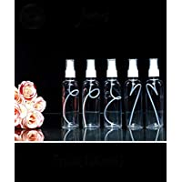 LIOMES Refillable Spray Empty Bottle for Home Office Car Travel Cleaning, Fine Mist 100ml (Transparent) - Set of 5,spray…