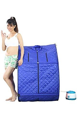 V Plus Healthcare Portable Therapeutic Steam Sauna Bath Home Spa Weight Loss I03-Blue