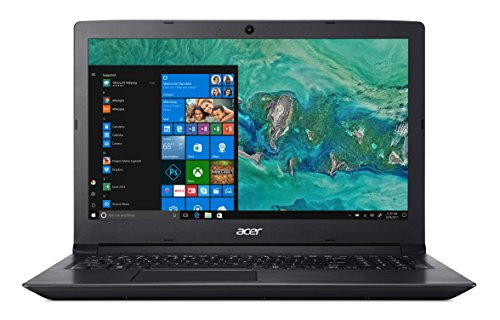 Acer Aspire 3 A315-41-R5KU Notebook con Processore AMD Ryzen 3 2200U, RAM da 8 GB DDR4, 1000 GB HDD, Display 15.6' HD LED LCD, Scheda Grafica Radeon Vega 3, Windows 10 Home, Nero