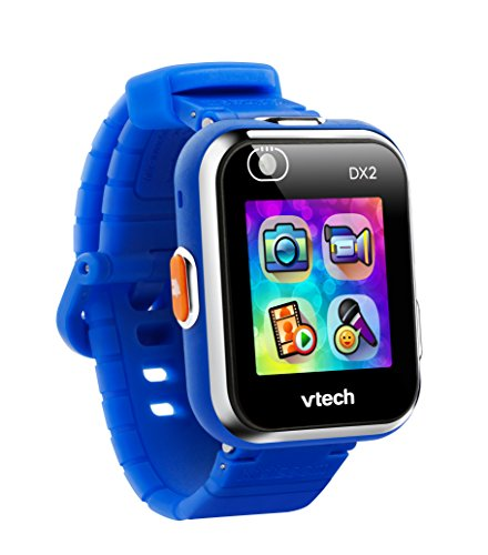 Vtech 80-193804 Kidizoom Smart Watch DX2 blau Smartwatch für Kinder Kindersmartwatch, Mehrfarbig