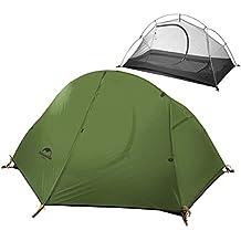 iBasingo Camping Carpa Ultraligera Individual Capa Doble Montar en el Exterior Carpa Impermeable contra el Agua