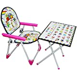 Foldable Study Table Chair Set For Kids Pink Desk For Girls