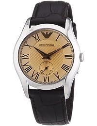 Emporio Armani AR1709 - Reloj unisex, correa de cuero color marrón