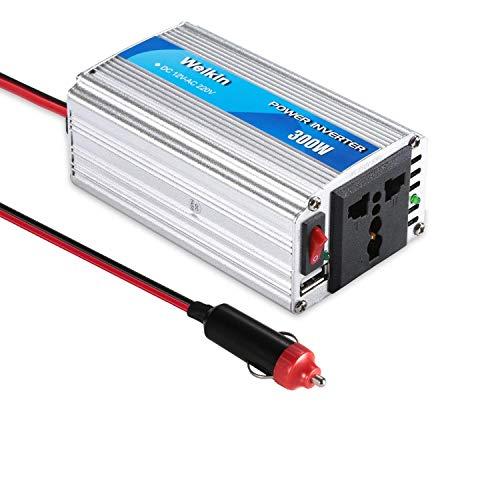 WEIKIN Power Inverter 300W inversor de energia DC 12V to AC 220V convertidor de Poder Utilizar Tanto en Coche como en casa