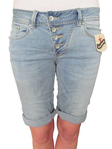 af0f561c5f23 Buena Vista Damen Stretch Jeans Shorts Bermuda Krempelhose Malibu middle  blue S