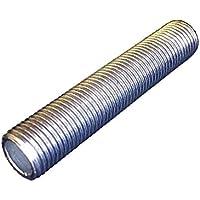 Fe Tubo de rosca M10x 1Longitud 80mm galvanizado, bombilla Tubo | Tubo de conexión 5unidades)