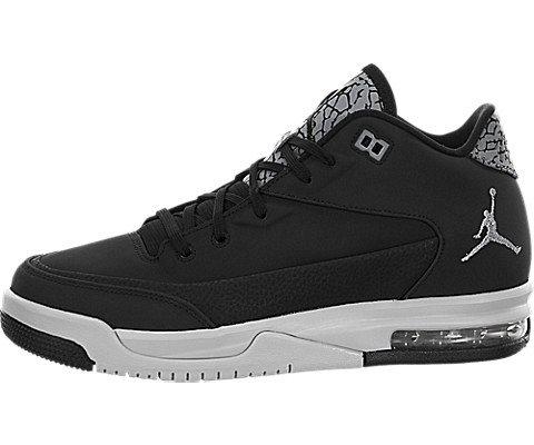Nike Jordan flight origin 3 bg - Scarpe da basket, Uomo, colore Nero (black/metallic silver-pure platinum), taglia 39