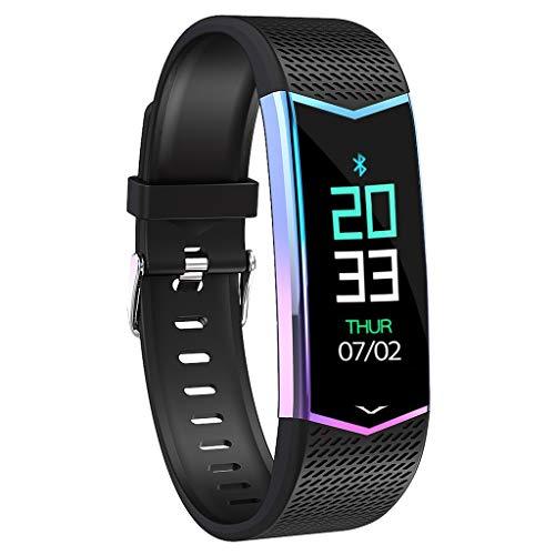 Happy Event Fitness-Armband, wasserdicht IP67 Fitness-Tracker mit Pulsmesser 0,96 Zoll Farbdisplay Aktivitäts-Tracker Fitness-Uhr Pulsmesser Schrittzähler Uhr für Männer Damen