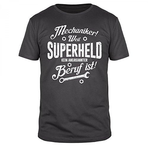 Mechaniker weil Superheld kein anerkannter Beruf ist - Herren T-Shirt - verschiedene Farben - Größen S-3XL, Größe:L;Farbe:Anthrazit