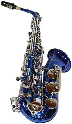 Jäger - Saxofón alto plata mib/fa estuche rígido, color azul