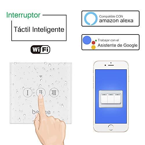 Interruptor Persiana WiFi, Smart Echo Interruptor wifi Táctil Inalámbrico Interruptor Alexa y...