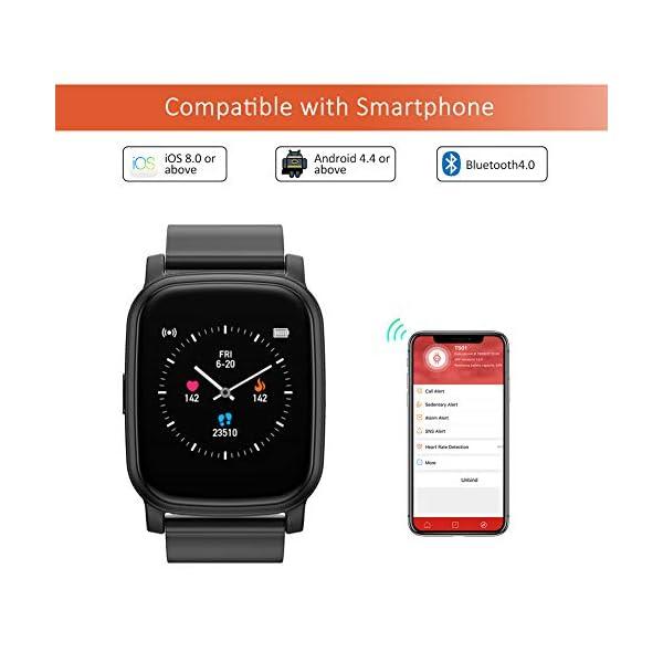 BYTTRON Smart Watch Fitness Tracker, Bluetooth Smartwatch IP68 a Prueba de Agua con Monitor de sueño de frecuencia… 5