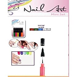 3d+nail+art Nail Art Mini Pens- Duo Nail Polish Pens- Snow Angel Colors