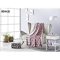 abecé Casa Plaid Manta 130 x 170. Soft Estampado Doble Cara Suave y Sedoso.