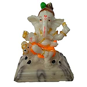 EthnicAlive Ganesh JEE in Marble Touch Religious Gift Vastu Showpiece Gift Items Car Dashboard