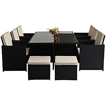outsunny alu poly rattan gartenm bel garten set sitzgruppe rattan sofa loungem bel. Black Bedroom Furniture Sets. Home Design Ideas