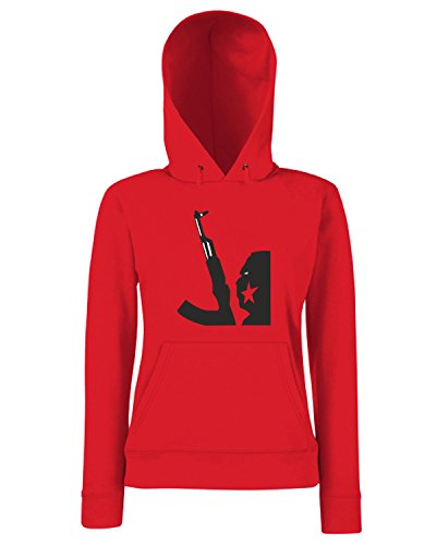 T-Shirtshock - Sweats a capuche Femme TM0407 Gerilla Asker turkey militari Rouge