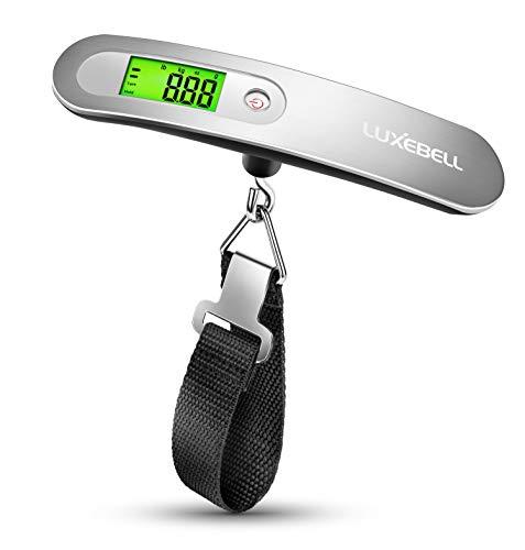 Luxebell Bilancia digitale pesa valigie con Con  Zero e Tare Batteria Inclusa