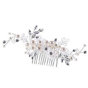 Damen Haarschmuck Haardekoration Haardeko Haarkamm Haarkämme Braut Hochzeit Schmuck Accessoires Kristall Kristallen Perlen Design Schmuck
