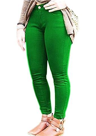 Ladies Super Plus Size Stretchy Jeggings Jade Green M =