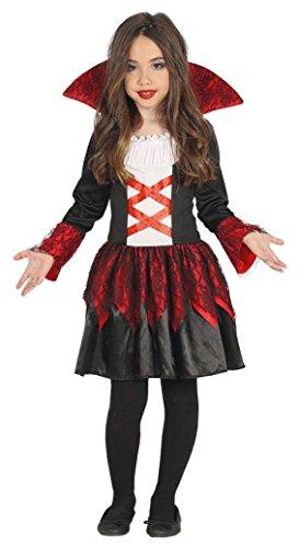 KINDERKOSTÜM - VAMPIRIN - Größe 132-148 cm ( 10-12 Jahre ) (Dracula Kostüm Mädchen)