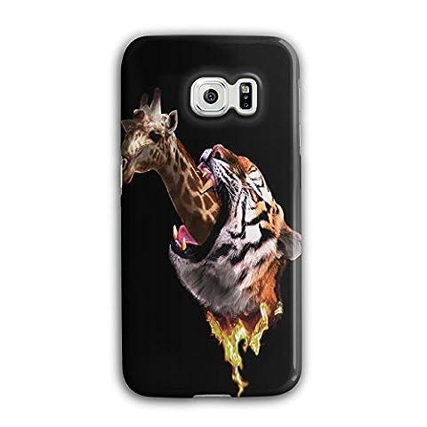 Tiger Giraffe Wild Animal Hungry Jaguar 3D Samsung Galaxy S6 Edge Case | Wellcoda