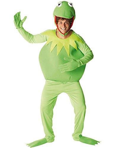 Kostüm Erwachsene Kermit Frosch Der (Original Kermit der Frosch Muppets Herrenkostüm Lizenzware grün)