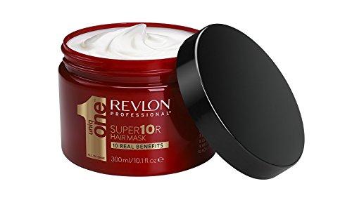 REVLON PROFESSIONAL UNIQONE Super Masque pour Cheveux Secs/Très Secs/Abimés 10 Bienfaits Super10R Mask, 300ml image 2