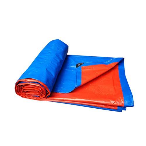 FurnitureShop UK Planen PE Blau Orange Verdickung LKW-Plane-Kunststoff Regen Abdeckung Sonnenschirm...