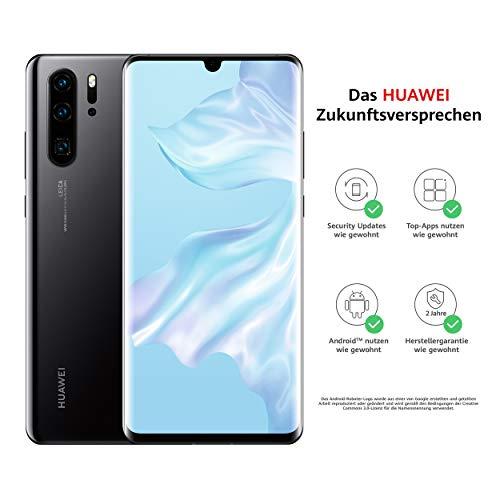 HUAWEI P30 Pro Dual-SIM Smartphone Bundle (6,47 Zoll, 128 GB ROM, 8 GB RAM, Android 9.0) Black + USB-Adapter [Exklusiv bei Amazon] - DE Version
