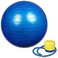 COBRA Exercise Non-Slip Stability Anti Burst Yoga Ball (75 cm with Pump Multi-Color)