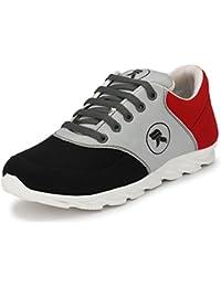 "REVOKE Unisex ""Cross-Amphibian"" Black-Red Swift M Running Shoes / Sports Shoes / Gym Shoes"