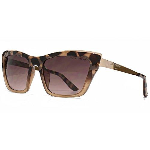 M:UK Hoxton Chunky D Frame lunettes de soleil en écaille violet MUK147856 One Size Gradient Grey 8fTH6
