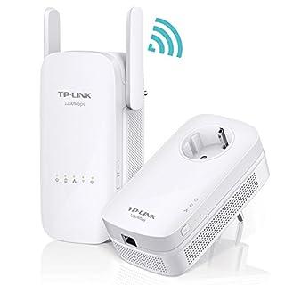 TP-Link TL-WPA8630KIT AV1300 Powerline Netzwerk Adapter (300 Mbit/s (2,4 GHz) und 867 Mbit/s (5 GHz), 3 Gigabit LAN Ports) weiß