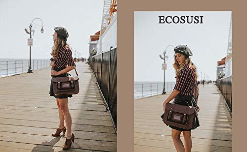 ECOSUSI Borse Messenger in Ecopelle Vintage Borsa a Spalla Retro da Donna con Plaid