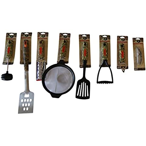 Mossy Oak 8 Piece Camouflage Utensil Set For Kitchen Cabin House BBQ Camper Shop by Mossy Oak