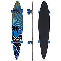 Monopatín tipo longboard, 117 cm