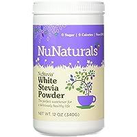 NuNaturals Poudre Blanche de Stevia 340g - White Stevia Powder