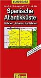 RV Euro-Regionalkarte 1:300 000 Spanische Atlantikküste - Galicien, Asturien, Kantabrien - RV Verlag