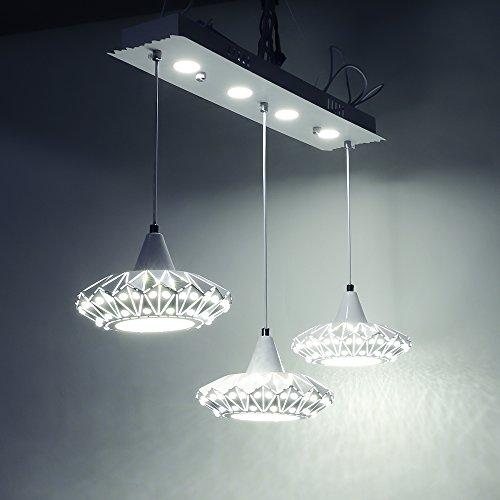 SAILUN 48W Warmweiß LED Kronleuchter Kreatives Design Pendelleuchten Pendellampe für Esszimmer Küche Wohnzimmer Deckenleuchte Hängeleuchte Pendel Lampe (48W Warmweiß - UFO)